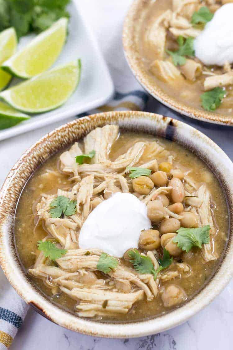 Instant Pot White Chicken Chili   The Foodie Eats