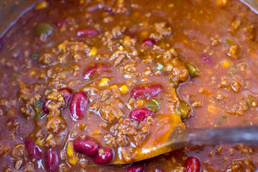 Pressure Cooker Chili - The Foodie Eats