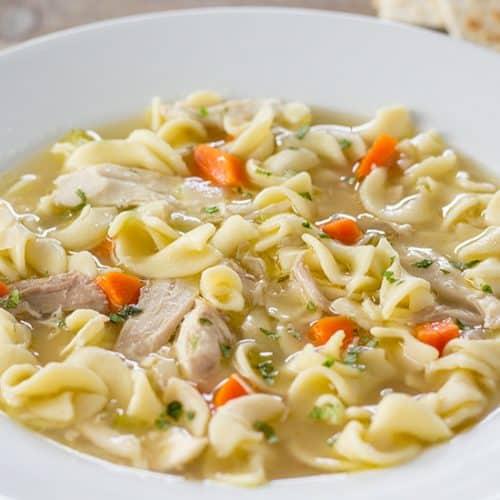 Instant Pot Chicken Noodle Soup | The Foodie Eats