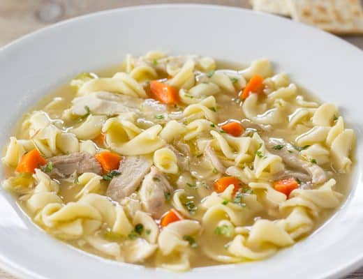 Instant Pot Chicken Noodle Soup | The Foodie Eats