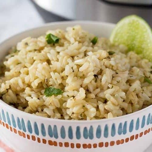 Instant Pot Cilantro Lime Rice - Chipotle Copycat | The Foodie Eats