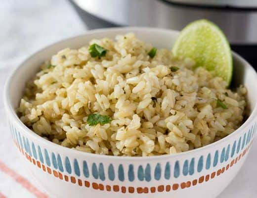 Instant Pot Cilantro Lime Rice - Chipotle Copycat | The Foodie Eats