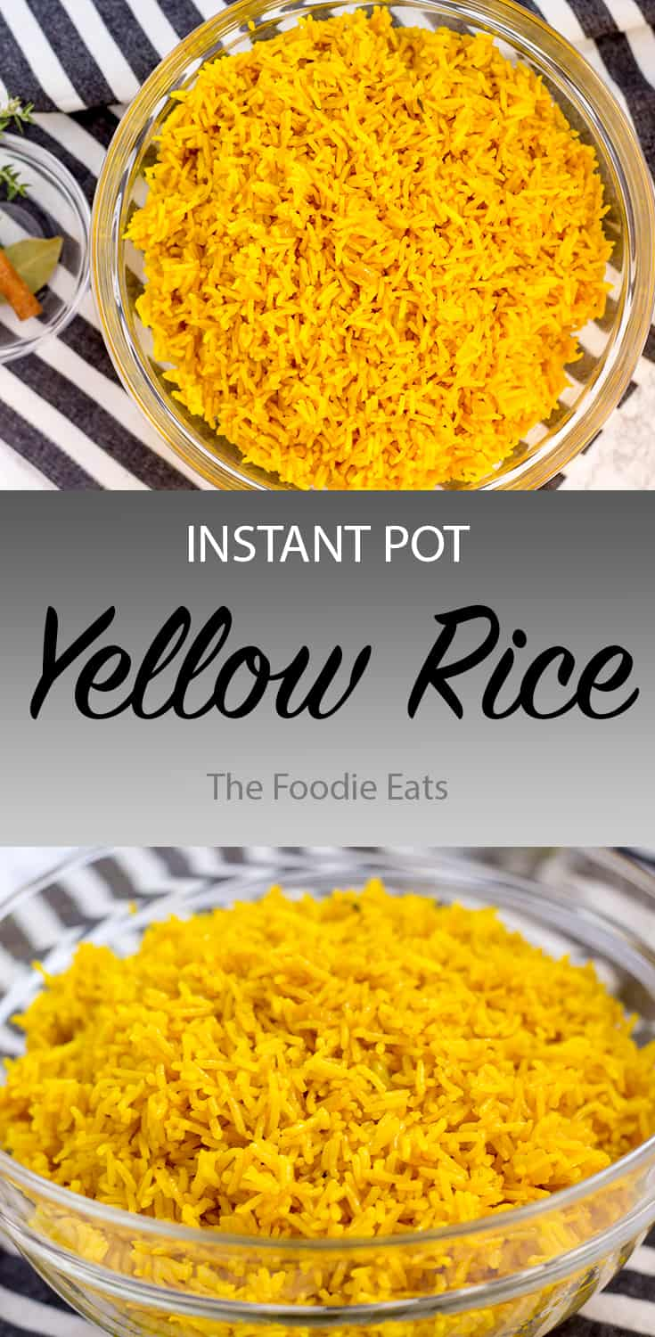Pressure Cooker Yellow Rice | The Foodie Eats