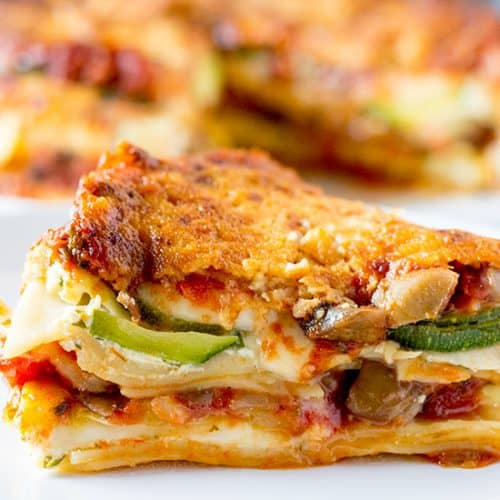 Instant Pot Veggie Lasagna | The Foodie Eats