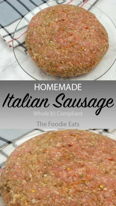 Italian sausage image for Pinterest