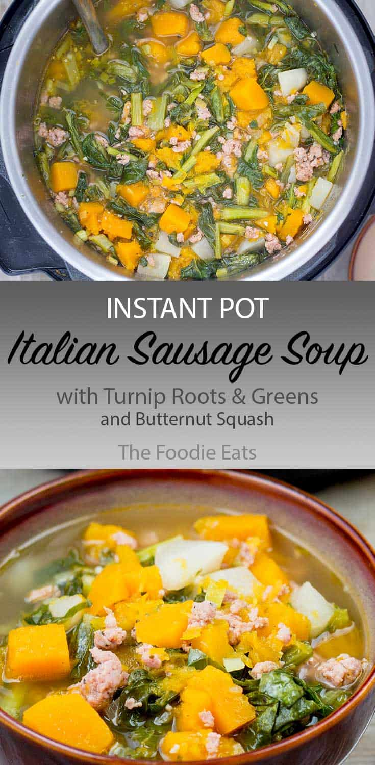 Italian sausage soup image for Pinterest