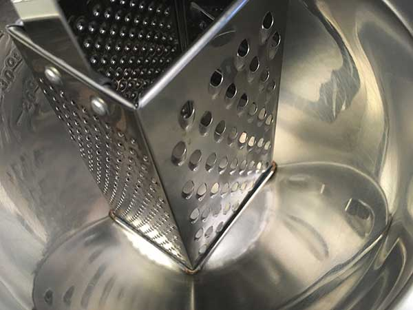 box grater in mixing bowl