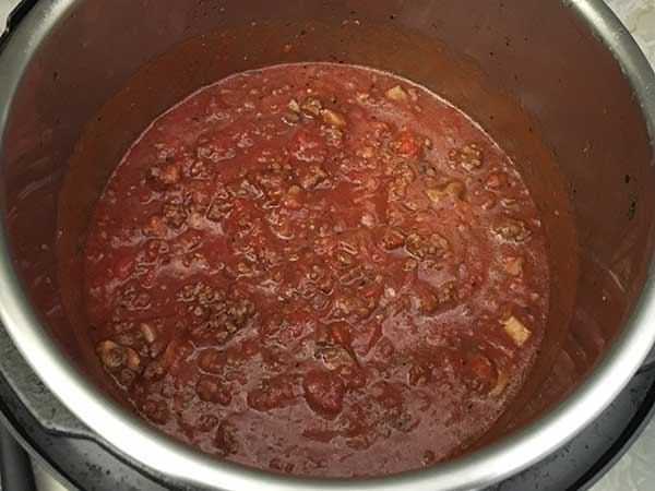 meat sauce in Instant Pot