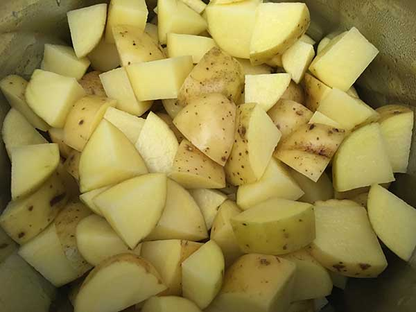 chopped gold potatoes