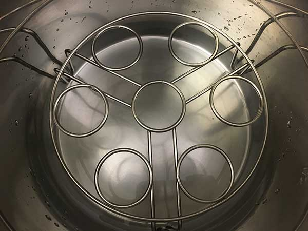 trivet inside Instant Pot with water