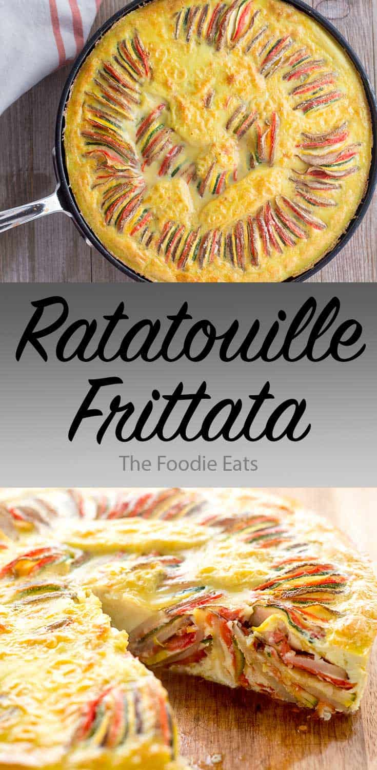 ratatouille frittata image for Pinterest