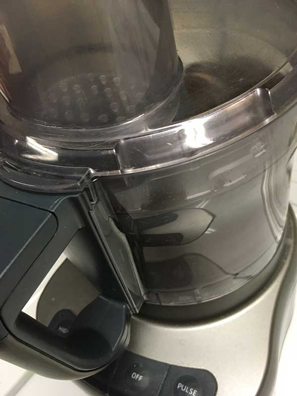 food processor with Oreos inside.
