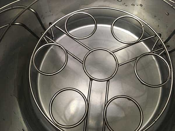 trivet and water in Instant Pot