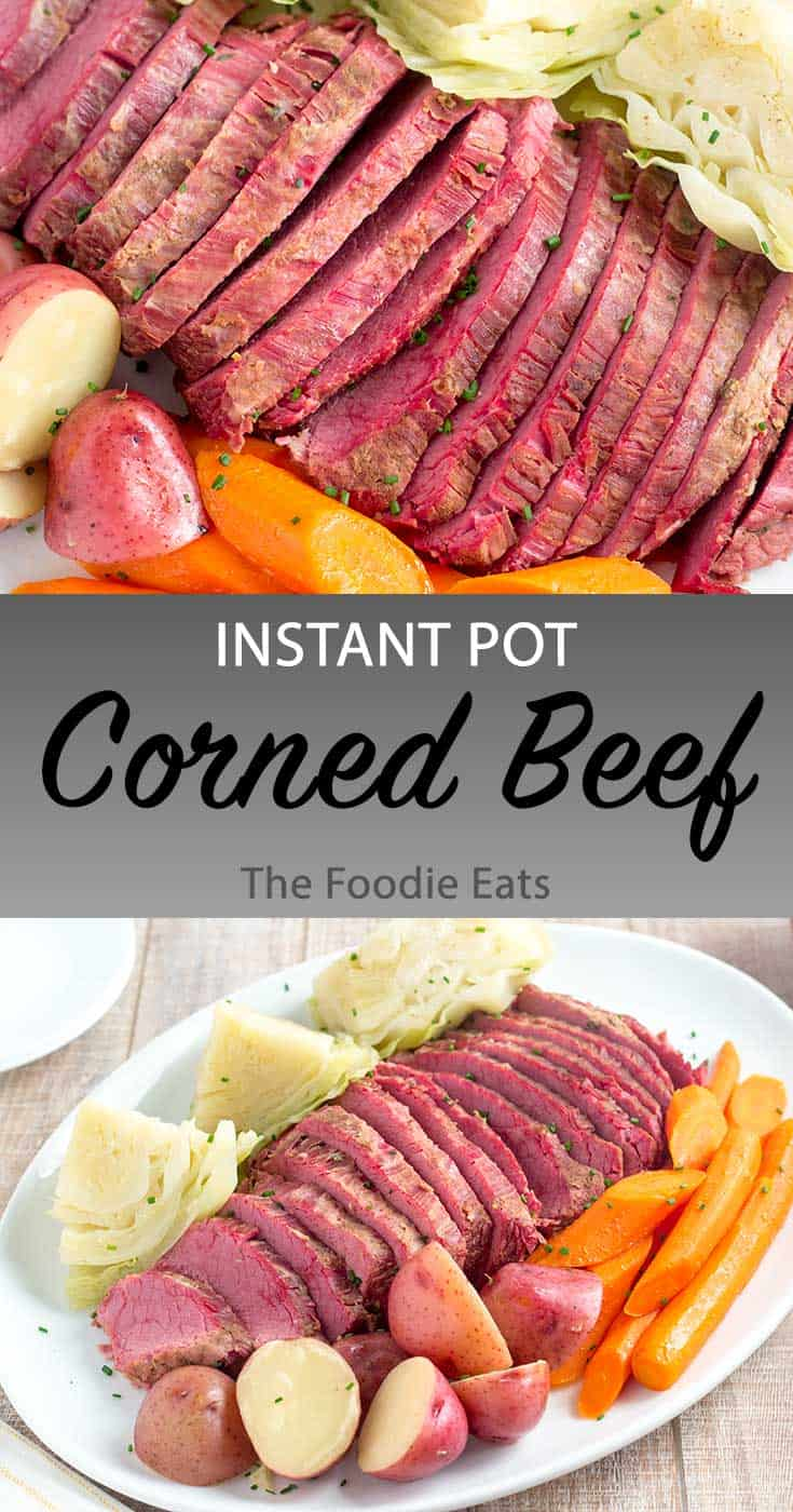 Instant Pot corned beef image for Pinterest