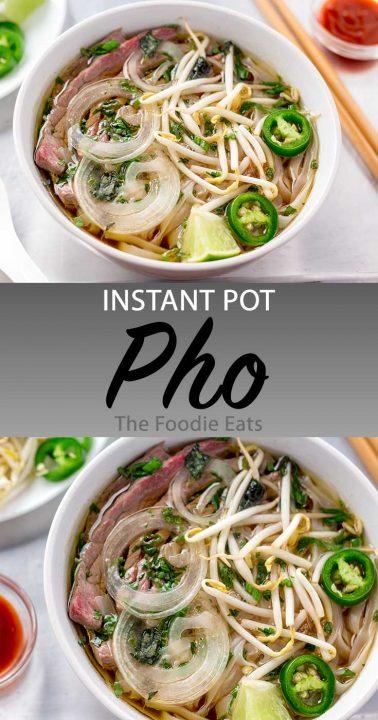 Instant Pot Pho image for Pinterest