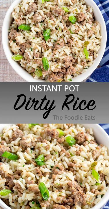 Dirty rice image for Pinterest.