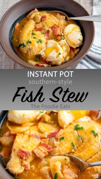 Instant Pot Fish Stew image for Pinterest.