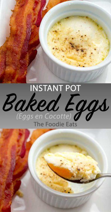 Baked eggs image for Pinterest.