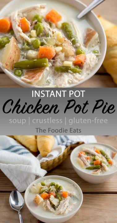 Chicken pot pie soup image for Pinterest.