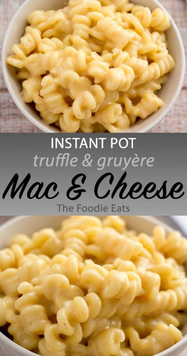 Instant Pot Truffled Mac and Cheese image for Pinterest