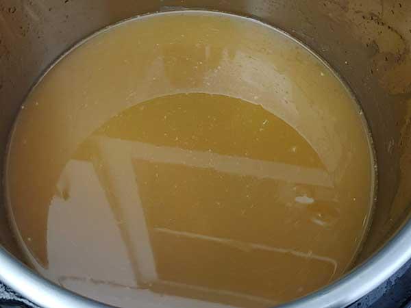 Chicken stock in Instant Pot.