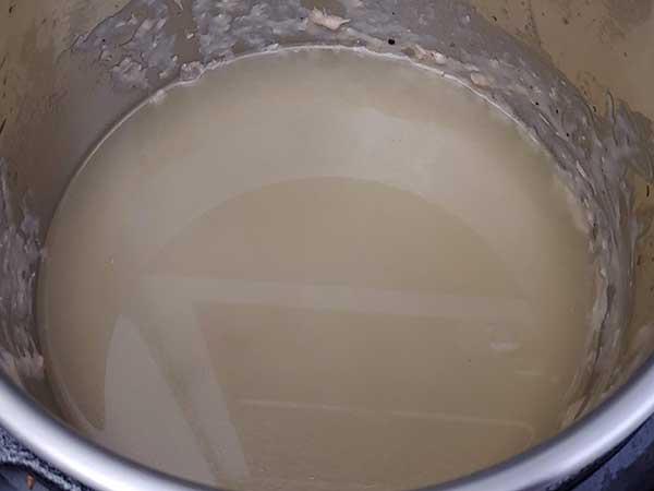 Chicken broth in Instant Pot.